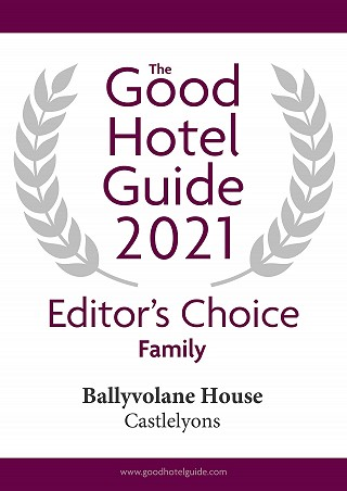 Ballyvolane House Good Hotel Guide 2020 Editor's Choice Award Family