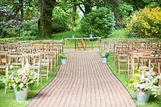 Outdoor woodland wedding ceremony Cork