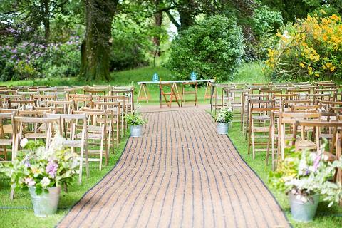 Outdoor woodland wedding ceremony Cork