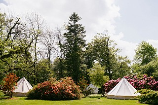 Glamping Bell tents in the Garden