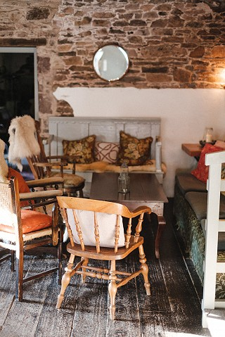 Ballyvolane House - comfy seating in the barn