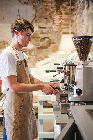 Barista coffee from Mahers Coffee Roasters Cork (pic by David McClelland Photography)