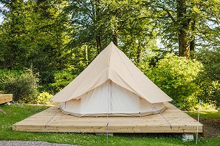 Bell tent in the glorious gardens at Ballyvolane House (pic by David McClelland)