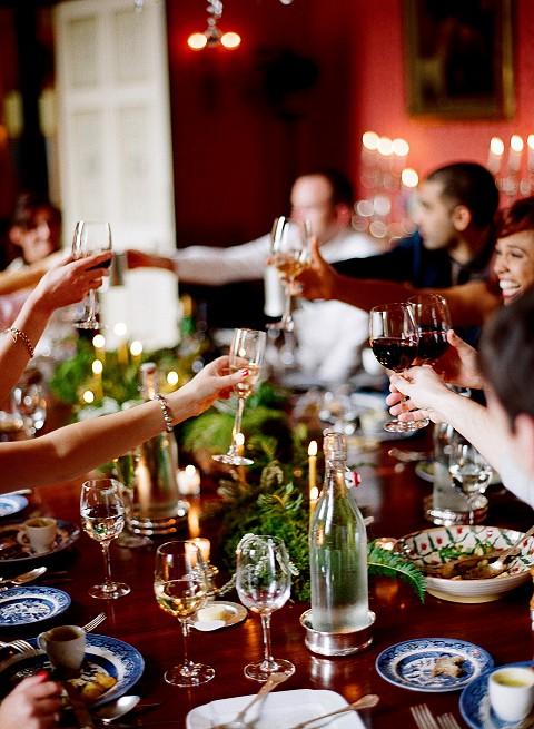 Guest enjoying dinner at Ballyvolane