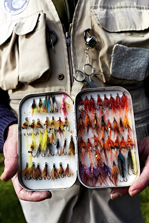 Preparing for a days salmon fishing & fly fishing on the Cork Blackwater in Ireland