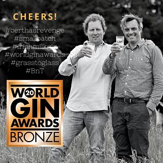 Bertha wins Bronze at World Gin Awards 2020