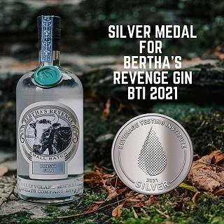 Beverage Testing Institute Silver Award 2021 for Bertha's Revenge Gin