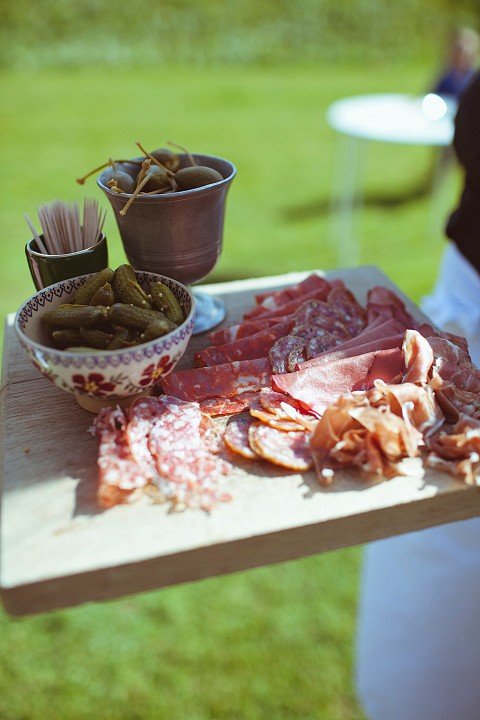Delcious charcuterie canapés for the wedding reception