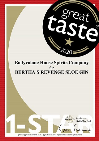 Great Taste Award Gold Star for Sloe Bertha