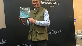 Justin with the Best Boutique Hotel award at the National Hospitality Awards