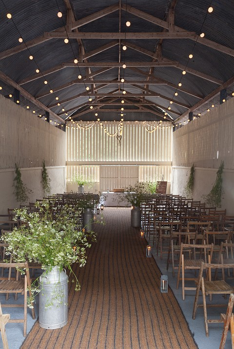 Civil ceremonies in the hay shed