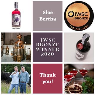 IWSC Bronze award for Sloe Bertha