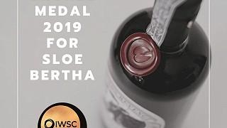 Bertha's Revenge Sloe Gin wins IWSC Bronze Medal