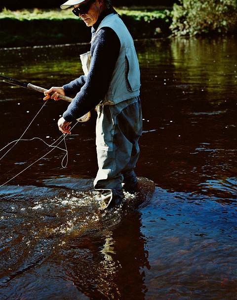 Ghillie Fly Fishing for Salmon on the Cork Blackwater
