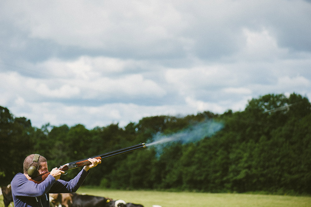 Clay pigeon shooting at Ballyvolane house