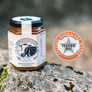 Silver for Bertha's Revenge Small Batch Orange Marmalade - The World's Original Dalemain Marmalade Awards 2021