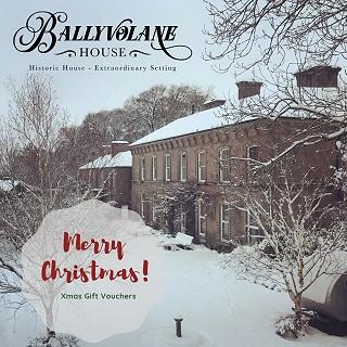Ballyvolane House in the snow